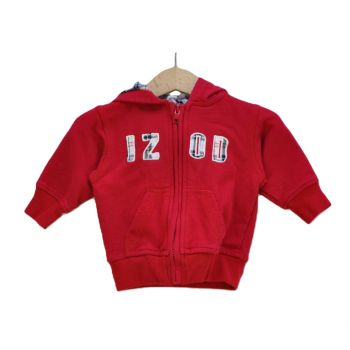 Boys Full Zip Red Hoodie Jacket