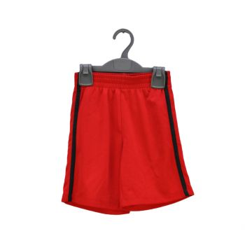 Boys Red With Black Striped Shorts