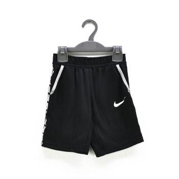 Boys Black With Logo Striped Sports Shorts