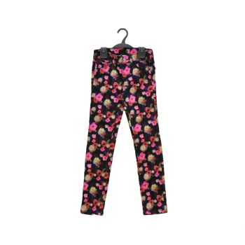 Girls Printed Super Skinny Denim Pants