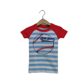 Boys Embroidered Striped Tee