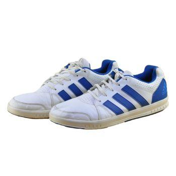 Adidas White & Blue Sneakers