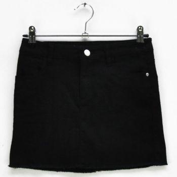 Girls Black Denim Skirt