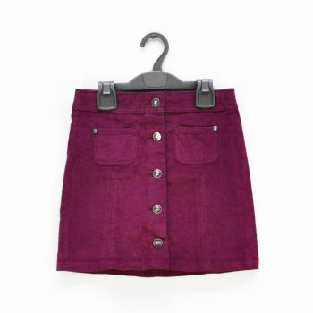 Girls Button Down Corduroy Skirt