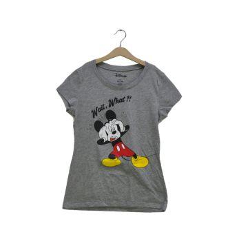 Girls Gray Graphic Disney Mickey Tee