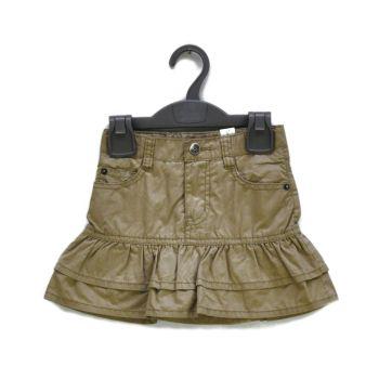 Girls Khaki Ruffle Skirt