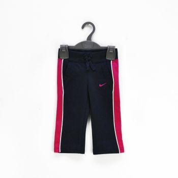 Girls Pink Striped Navy Pants