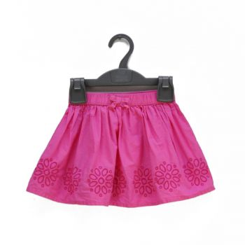 Girls Embroidered Pink Skirt