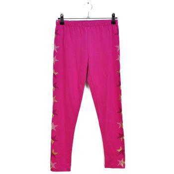 Girls Printed Pink Leggings