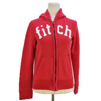 Girls Full Zip Red Hooded Jacket