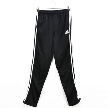 Girls Black Skinny White Striped Sports Pants