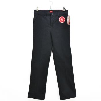Girls Slim Fit Flat Front Casual Pants