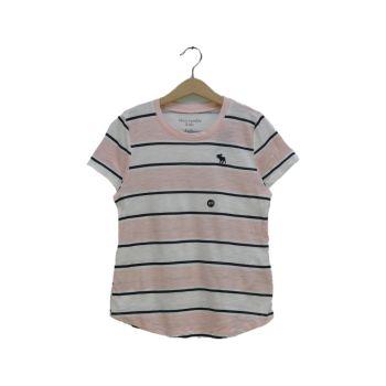 Girls Striped Short Sleeve T-Shirt