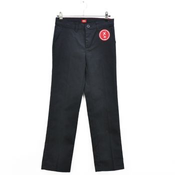 Girls Slim Fit Black Casual Pants