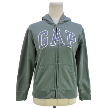 Girls Full Zip Patched Logo Hooded Jacket