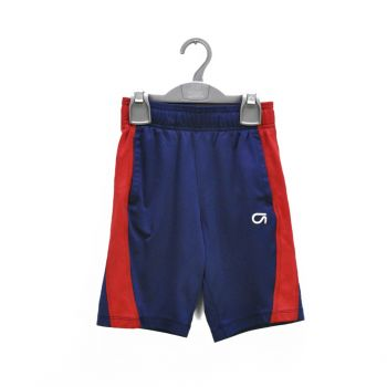 Boys Red Side Striped Navy Shorts