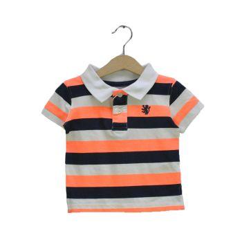 Boys Striped Collar T-Shirt