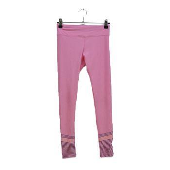 Girls Pink Bottom Striped Leggings