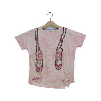 Girls Shoe Patched Printed T-Shirt