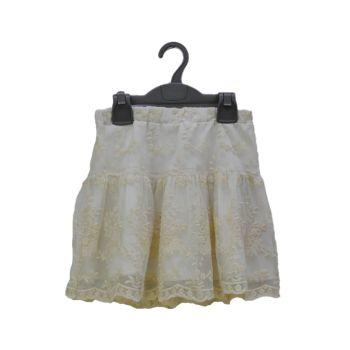 Girls Net Embroidered Skirt