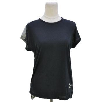 Girls Back Striped Logo Printed T-Shirt