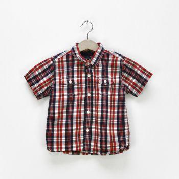 Boys Plaid Short Sleeve Shirt