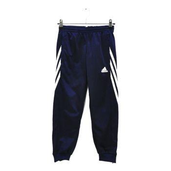 Girls White Striped Navy Cuff Track Pants