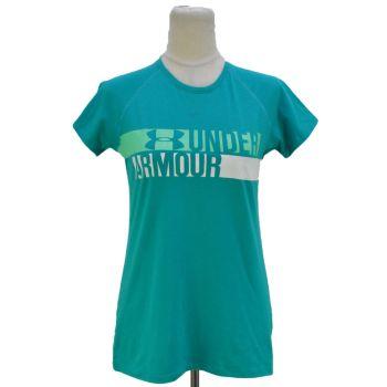 Girls Heatgear Round Neck Logo T-Shirt