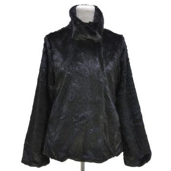 Patagonia Black Faux Fur Soft Jacket Vintage