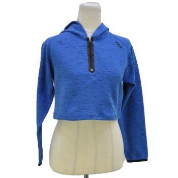 Girls Half Zip Long Sleeve Crop Hoodie