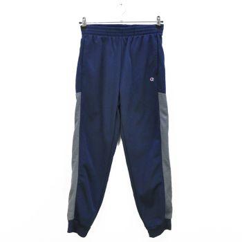 Boys Navy Gray Striped Sports Jogger Pants