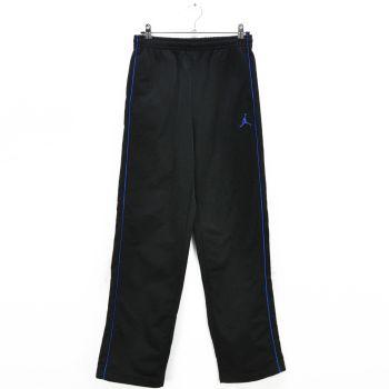 Boys Black Blue Side Piping Sweat Pants