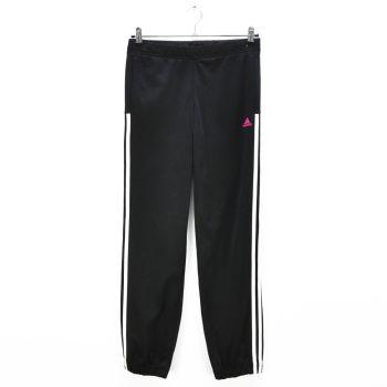 Girls Black White Striped Track Pants