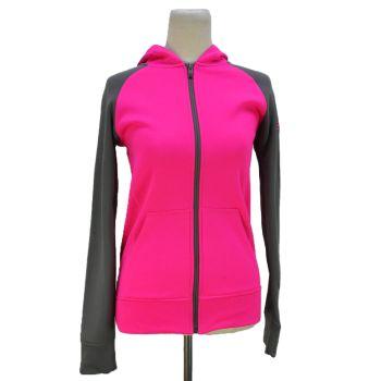 Girls Full Zip Two Tone Hooded Jacket