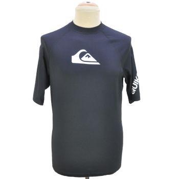 Mens Black Half Sleeve Surfing T-Shirt