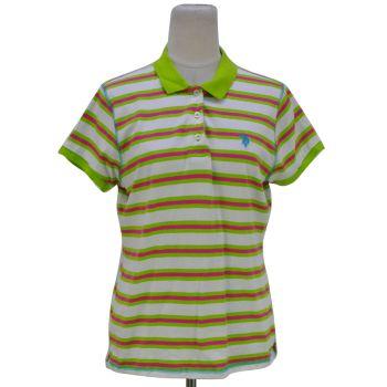 Girls Striped Collar T-Shirt