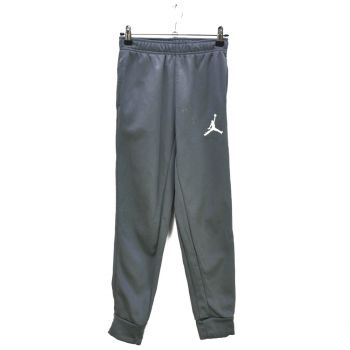 Boys Gray Embroidered Logo Sports Pants