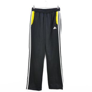 Boys Adidas Black White Striped Track Pants