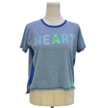 Girls Heart Print Short Sleeve Long Back T-Shirt
