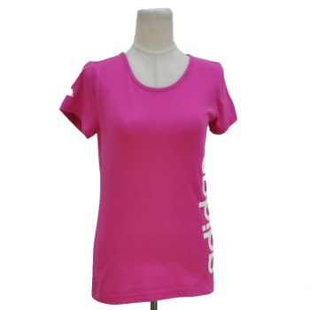 Youth Girls Pink Adidas Logo -Shirt
