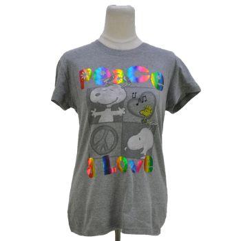 Girls Peanuts Peace & Love Graphic T-Shirt