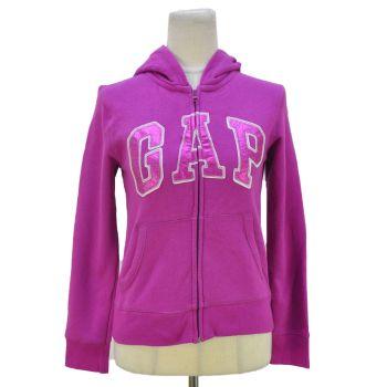 Girls Full Zip Logo Hooded Jacket