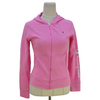 Girls Full Zip Pink Hooded Jacket