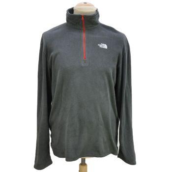 Vintage The North Face Grey Long Sleeve Half Zip Fleece Jacket