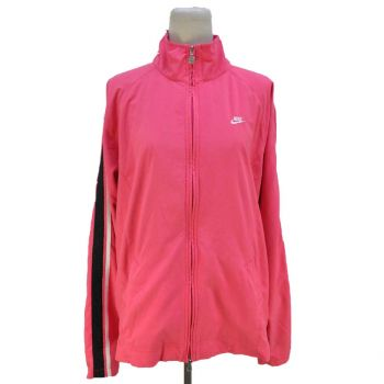 Vintage Nike Embroidered Full Zip Pink Jacket