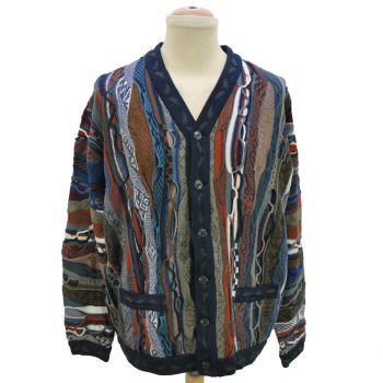 Vintage Men's XL Biggie Big Cosby Cardigan Sweater