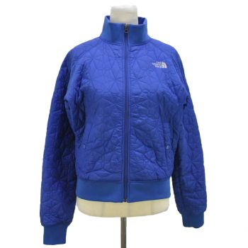 Vintage The North Face Blue Quilted  Full Zip Coat Women