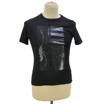 Boys Black Printed T-Shirt