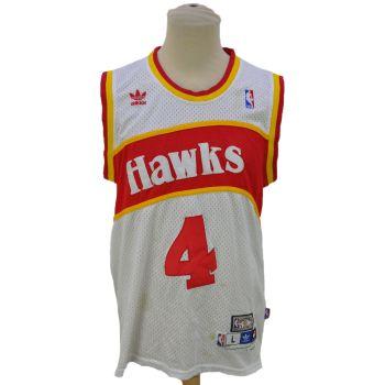 Vintage Adidas NBA Hawks Webb # 4 Hardwood Classic Jersey
