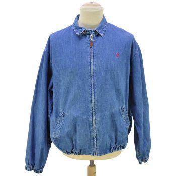 Vintage Polo Ralph Lauren Full Zip Denim Jacket Made In USA